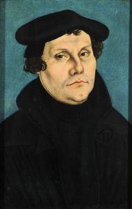 Lutero, con la cara de cochino que lo caracteriza (ufa, me salieron las raíces ibéricas).