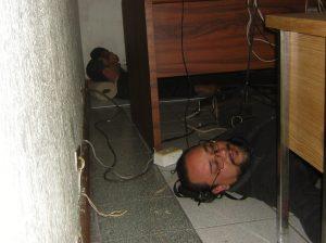 Durmiendo la mona en el Municipio.